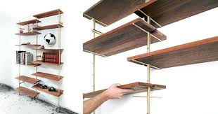 using brass and wood based designer has created mid century modern wall shelves diy full size