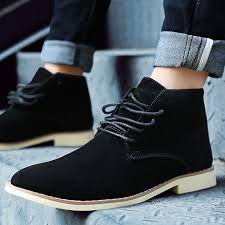 Autumn Winter Boot <b>Men</b> Suede Leather <b>Ankle</b> Boots <b>Vintage Style</b> ...