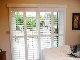 Image of: Sliding Glass Door Blinds Decor