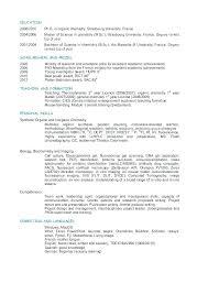 Analytical Chemist Resume Analytical Chemistry Resume Examples Sample Entry Level Chemist