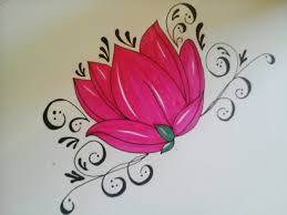 Small Picture how to draw flowers for beginners easy version tattoo flowers