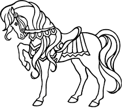 Girl Riding Horse Coloring Pages Drawing Kids Fan Art Kid Colorings
