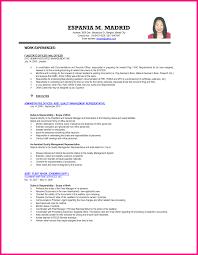 Hrm Skills For Resume Sample Resume For Ojt Students Ideal
