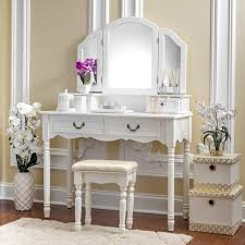 elegant makeup table. Fineboard Elegant Vanity Dressing Table Set Makeup With 3 Mirrors And Stool, 4 A