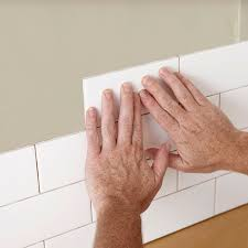 install tiles on adhesive sheets