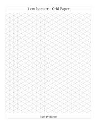 1 Cm Isometric Grid Paper Portrait A Math Worksheet Freemath
