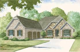 193 1001 color rendering of european home theplancollection house plan 193 1001