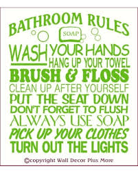 wall decor plus more bathroom rules subway art wall sticker vinyl decal 23x20 lime green lime on lime green bathroom wall decor with summer shopping special wall decor plus more bathroom rules subway