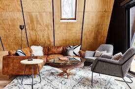 article modern furniture. Aframe Cabin Living Room Article Modern Furniture Plywood Throughout