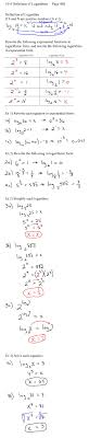 definition of logarithms