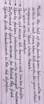 Unity in sports essay