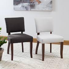 Belham Living Carter Mid Century Modern Upholstered Dining Chair - Set of 2  | Hayneedle