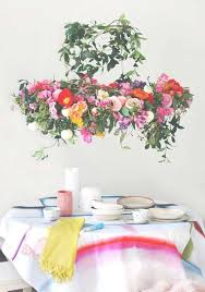 tutorial make a hanging flower chandelier for your next party inside fl chandelier