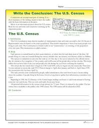 write the conclusion writing activity the u s census printable 5th 6th and 7th grade writing activity where students practice writing conclusions