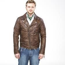 mens quilted leather biker jacket brown men leather biker jackets
