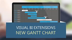 Power Bi Gantt Chart Milestones Visual Bi Extensions New Gantt Chart By Visual Bi Solutions