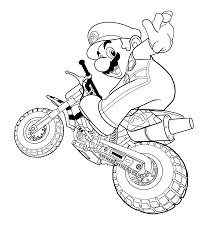Mario Coloring Pages For Kids Printable