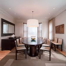 recessed lighting in dining room. Mirrored Buffet Dining Room Contemporary With Ceiling Lighting Simple Recessed In R