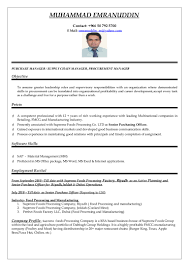 Purchasing Manager Resume Example Procurement Executive Sampl Sevte