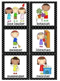 Preschool Job Chart Clipart 5 Clipart Station