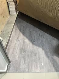 no skirting flooring
