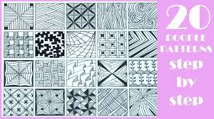Doodle Patterns Cool 48 EASY Doodle Patterns Step By Step Zentangle Patterns YouTube