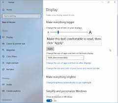 how to change text size how to change text size in windows 10