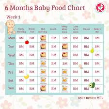 6 To 9 Months Baby Food Chart 79 Credible 8 Month Baby Food Chart In Bengali