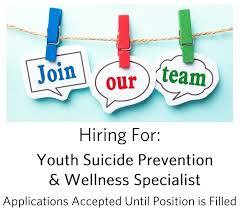 Cover Letter For Peer Support Specialist Job Opening Youth Suicide Prevention And Wellness
