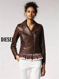 womens brown sel l revi a leather jackets uk