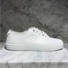 chanel sneakers. chanel white sneakers e