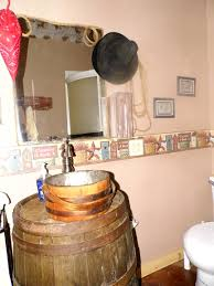 home design repurposed bathroom vanity guest bath from old wooden barrel and sink made antique bucket