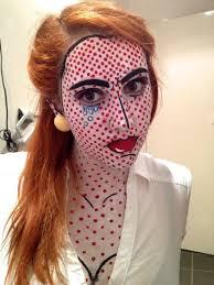 last years costume my try at roy lichtenstein pop art make up