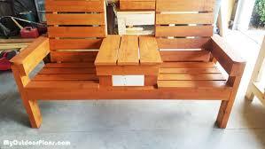 diy wood patio bench myoutdoorplans