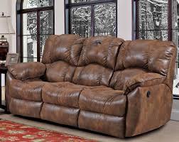 bernhardt weston double reclining leather sofa