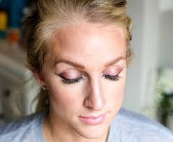 new years eve makeup look with luminess air by beauty ger jessica of happily hughes
