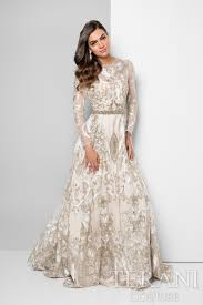 Designer Dress With Two Tone Metallic Embroidery That Is Artfully