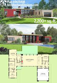 modern waterfront home plans fresh plan am 3 bed modern house plan with open concept layout