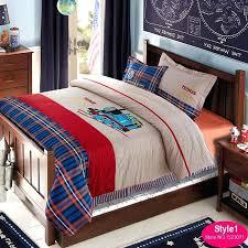 train bedding kids set boys cartoon bed linen duvet cover flat sheet pillowcase king queen twin