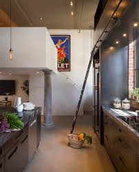 industrial style home lighting. Of A Well-done Industrial Style Kitchen. Marriage Stainless Steel, Black And Brick. Edison Lights. Helpful Inspirational Resources: Home Lighting