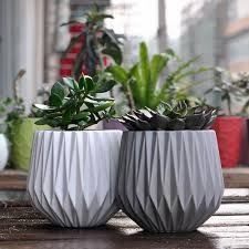 Modern Decoration Ceramic Indoor Plant Pot Flower Pot Home Decoration 2  Pieces / Set