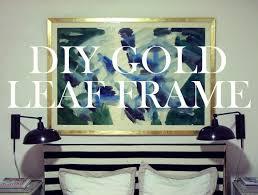 on large gold framed wall art with diy gold leaf art frame little green notebook