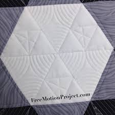 The Free Motion Quilting Project: Machine Quilting a Star Block ... & Learn how to machine quilt with rulers Adamdwight.com