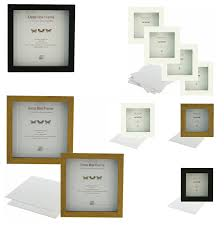 details about sixtrees cooper 30mm clear space box frames 5x5inch 10x10 inch singles multipack