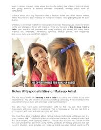 scope of being a makeup artist in india