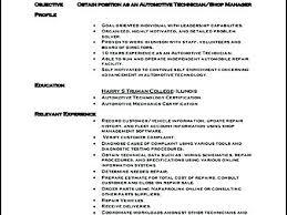 Automotive Technician Cv Template Resume Examples Design Templates