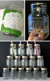 Decorating Mason Jars For Drinking DIY Etched Mason Jar Drinking Glasses Perfect For Parties 22