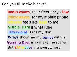 Spectrum Of Light Song Link To Em Waves Song Bit Ly Emwavessong Ppt Download