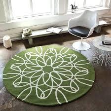 8 round rugs green