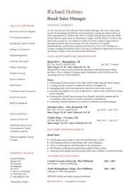 Retail Sales Manager resume ...